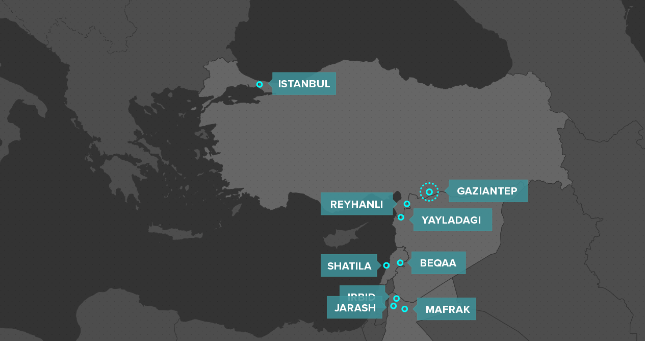 Gaziantep Map%0A We try to reach as many kids as possible and move to the areas where kids  need our presence most  The map below shows our areas of intervention